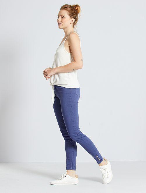 Pantalon skinny taille haute                                         bleu cobalt