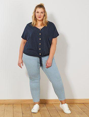 Pantalon skinny taille haute - Kiabi 5a8db4de305