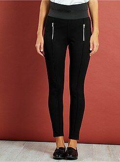 Pantalon slim - Pantalon skinny taille haute maille milano