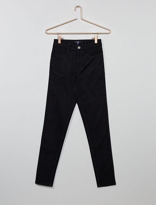 Pantalon skinny taille haute                                                     noir