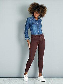 Grande taille femme Pantalon skinny toucher doux