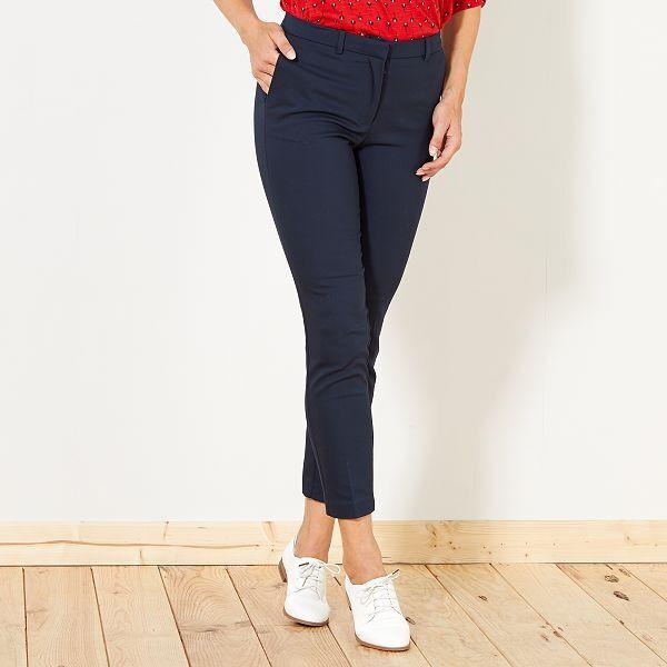 pantalon femme bleu marine