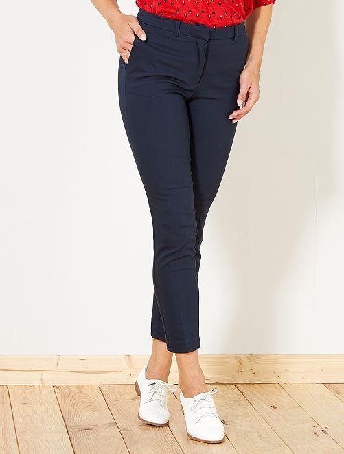 Pantalon skinny uni                                                     bleu marine