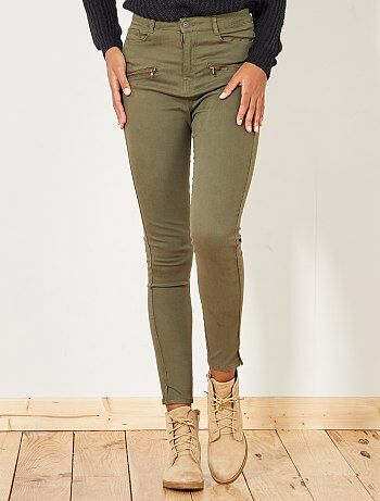 Femme du 34 au 48 - Pantalon skinny uni - Kiabi