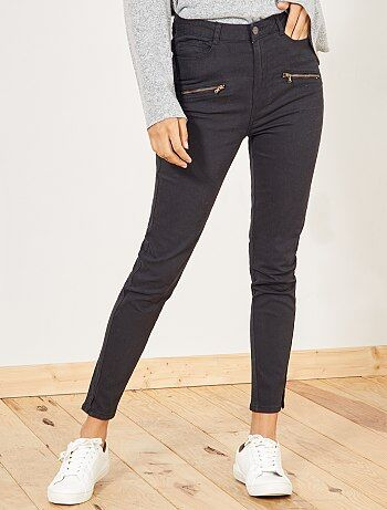 Pantalon skinny uni - Kiabi