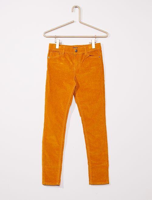 Pantalon skinny velours côtelé                                                                                         moutarde