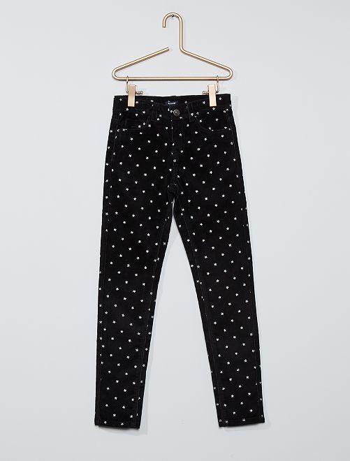Pantalon skinny velours côtelé                                                                                         noir