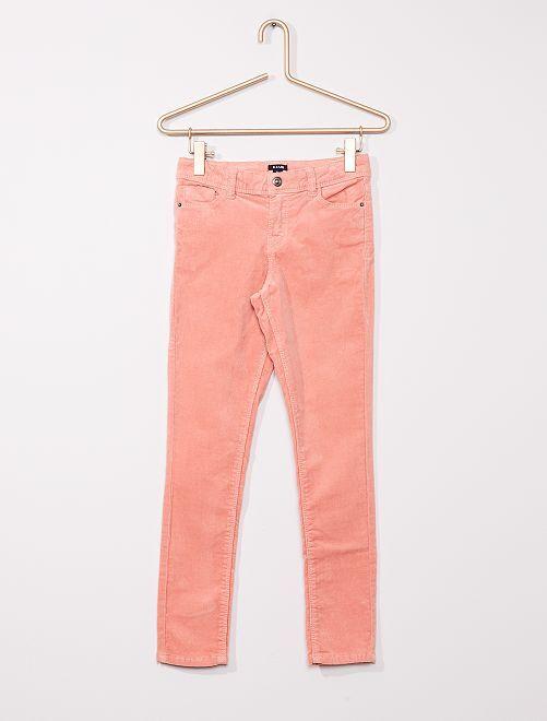 Pantalon skinny velours côtelé                                                                                                     rose
