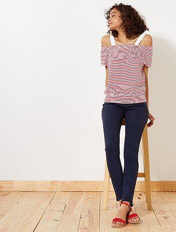 Pantalon slim                                                                                                                              bleu marine  Femme