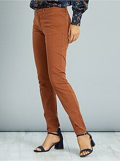 Pantalon marron - Pantalon slim