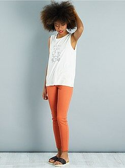 Pantalon orange - Pantalon slim