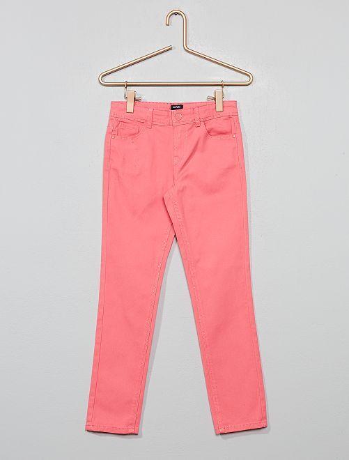 Pantalon slim                                                                                                                                                                  rose