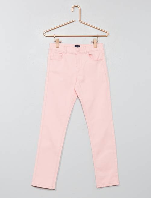 Pantalon slim                                                                                                                                                                              rose poudré