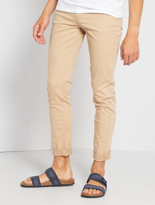 Pantalon slim 5 poches                                                                                                                             beige