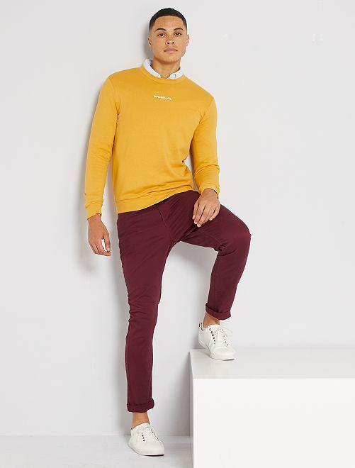 Pantalon slim 5 poches                                                                                                                                                     bordeaux