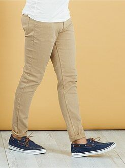 Pantalon slim - Pantalon slim 5 poches coton stretch