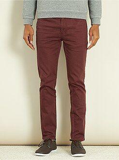 Homme du S au XXL Pantalon slim 5 poches coton stretch
