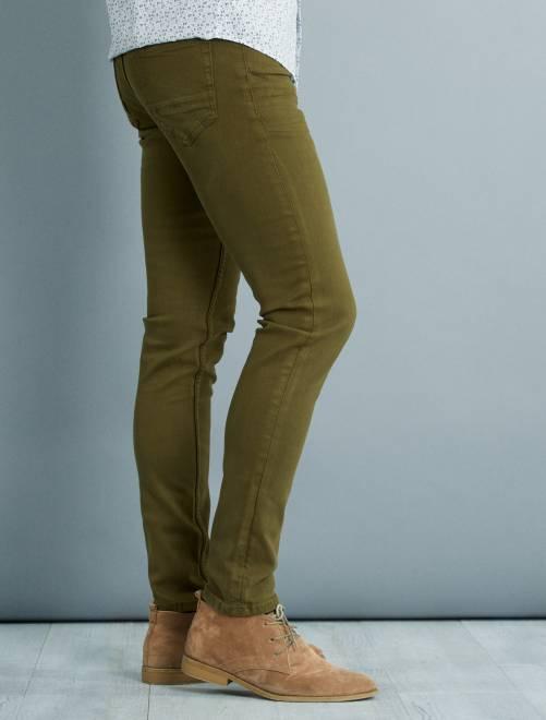 ... Pantalon slim 5 poches coton stretch vue 5 ...