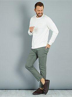 Pantalon slim - Pantalon slim 5 poches coton stretch