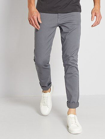 Pantalon slim 5 poches en twill - Kiabi
