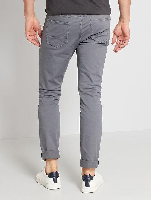 5 Pantalon Poches En Slim Twill DEH92I