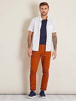 Pantalon casual - Pantalon slim 5 poches en twill - Kiabi