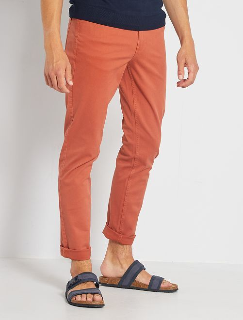 Pantalon slim 5 poches                                                                                                                             rouille clair
