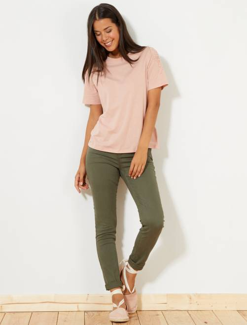 Pantalon slim 5 poches stretch                                                                                                                     kaki