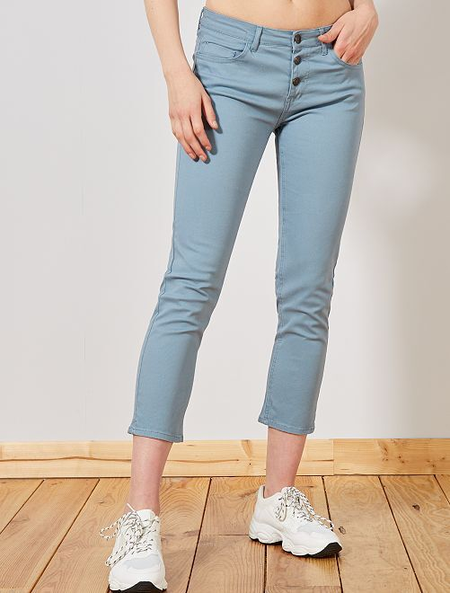 Pantalon slim 7/8e                                             bleu gris
