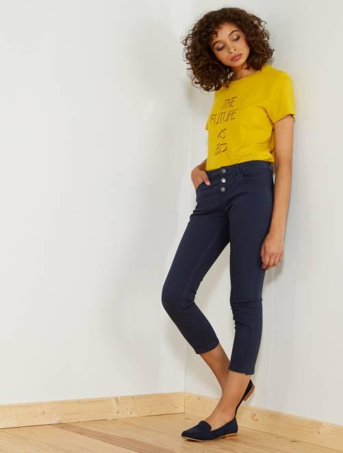 Pantalon slim 7/8e                                                                                                                                                     bleu marine Femme