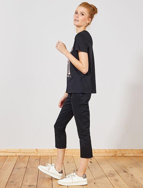 Pantalon slim 7/8e                                                                                                                                         noir