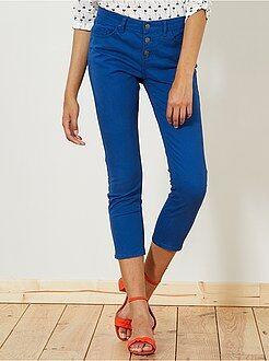 Femme du 34 au 48 - Pantalon slim 7/8e taille haute - Kiabi