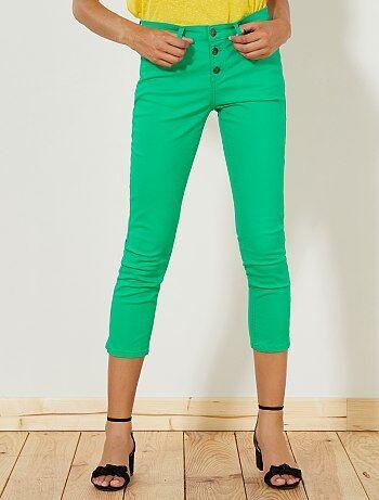Pantalon slim 7/8e taille haute - Kiabi