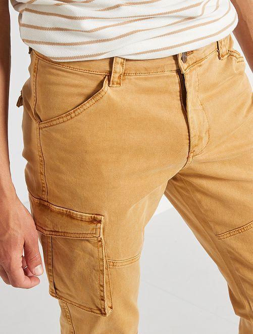 Pantalon slim battle                     beige