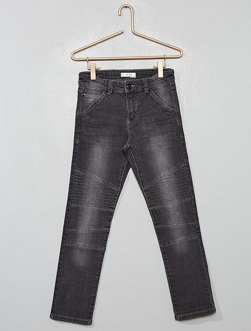 Pantalon slim 'biker'                                                     gris