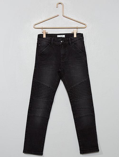 Pantalon slim 'biker'                                         noir