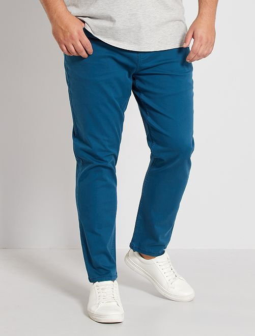 Pantalon slim                                                                                                     bleu canard