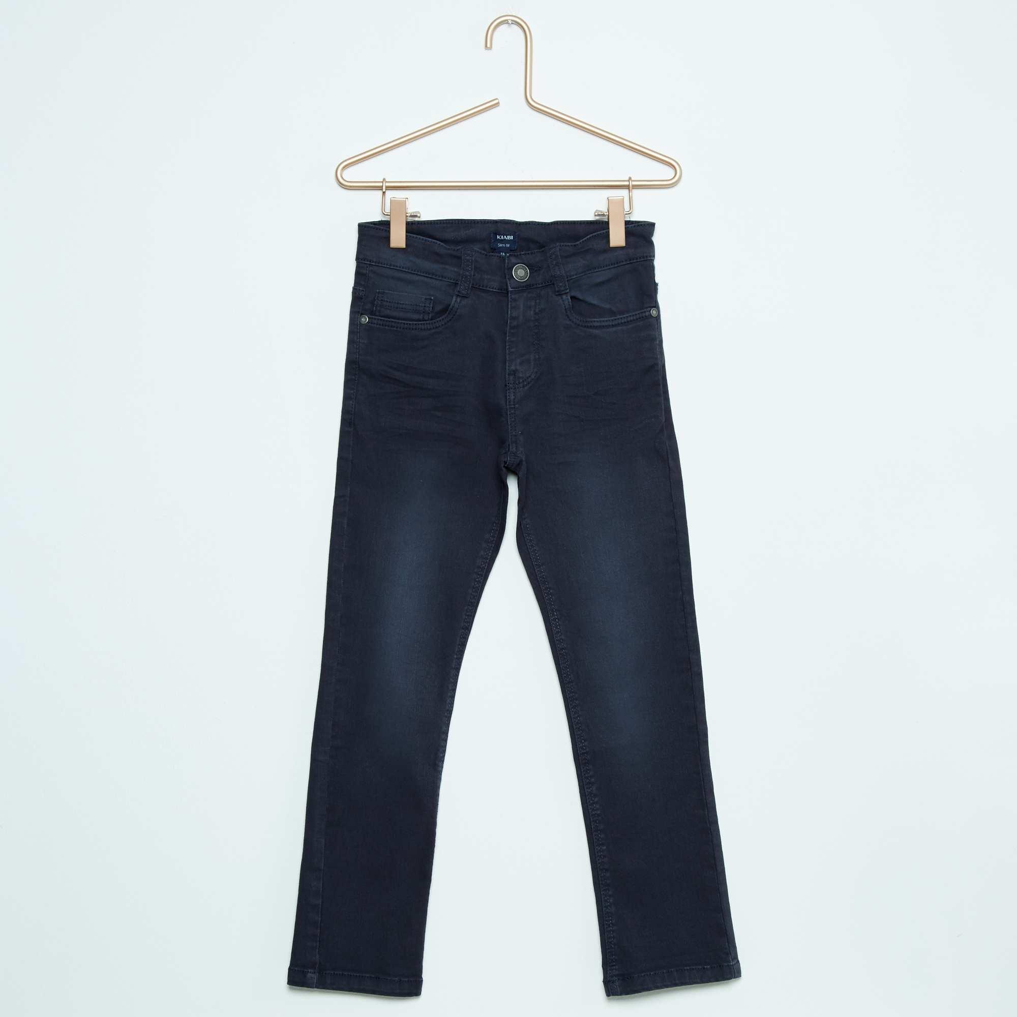 pantalon slim gar on bleu marine kiabi 13 00. Black Bedroom Furniture Sets. Home Design Ideas