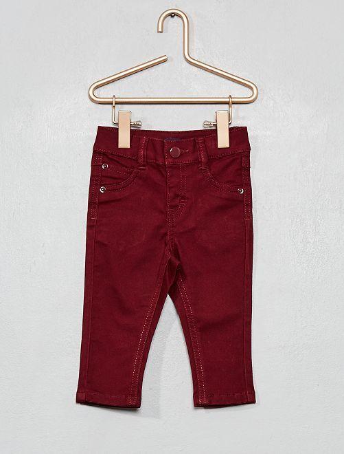 Pantalon slim                                                     bordeaux foncé