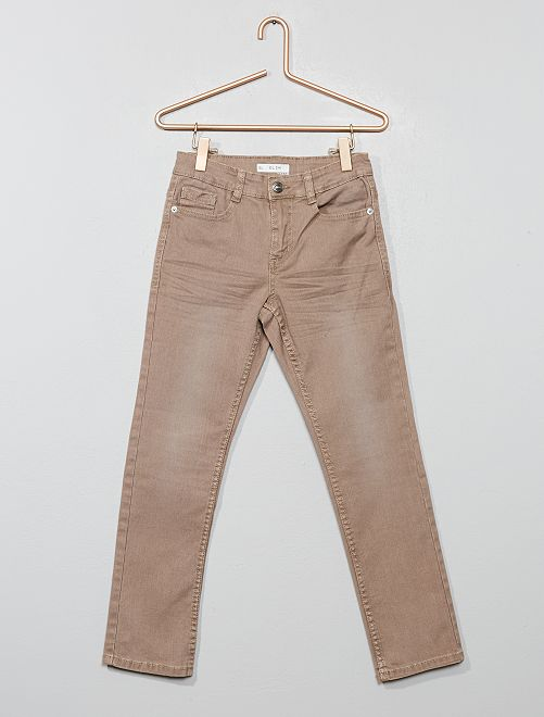 Pantalon slim                                                                                                                                                                                                                                                                                                                                         brun