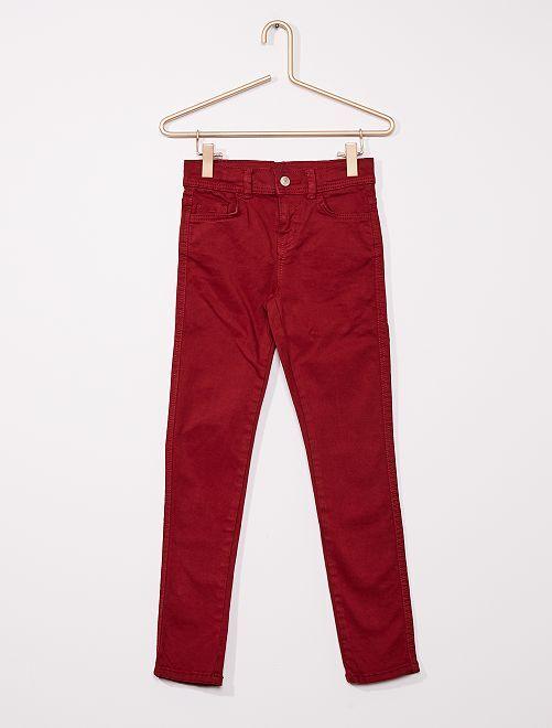 Pantalon slim coloré éco-conçu                                                                                         bordeaux