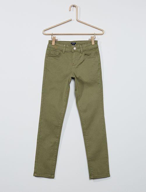 Pantalon slim coloré éco-conçu                                                                                         kaki