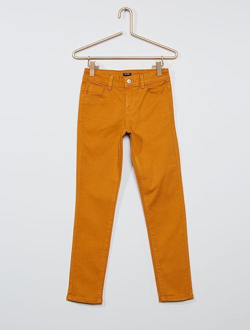 Pantalon slim coloré éco-conçu                                                                             ocre
