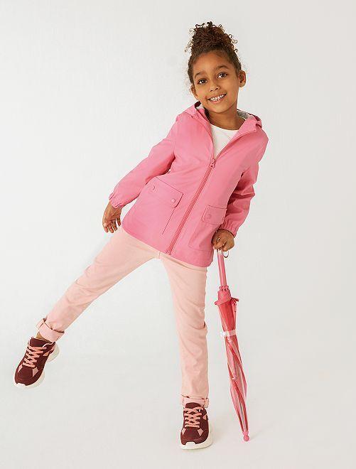 Pantalon slim coloré éco-conçu                                 rose clair