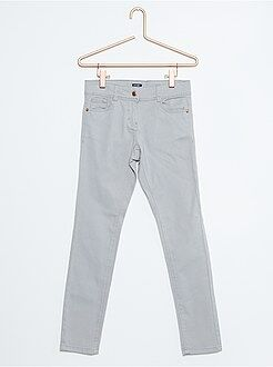 Fille 4-12 ans Pantalon slim coton 5 poches