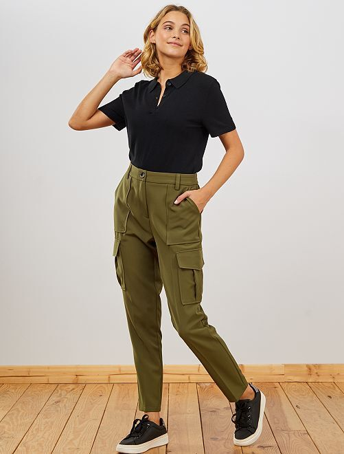Pantalon slim coupe battle                             kaki