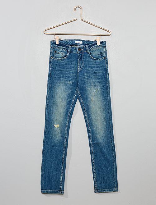 Pantalon slim destroy                                         bleu