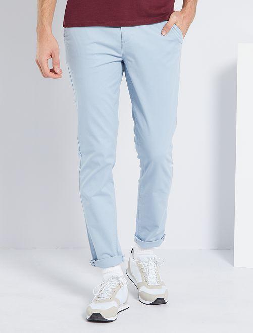 Pantalon slim éco-conçu                                                                                                                                                                                                                                                                                                                                                                                                                 bleu gris