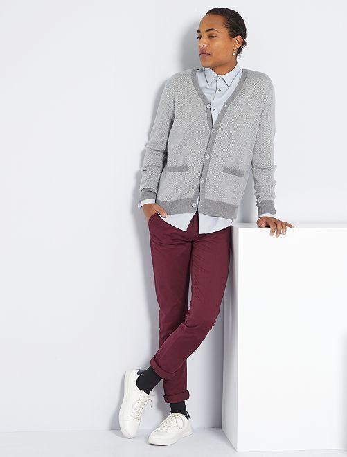 Pantalon slim éco-conçu                                                                                                                                                                                                                                                                             bordeaux