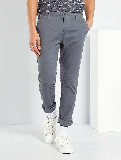Pantalon slim éco-conçu                                                                                                                                                                                                                                                                                                                                                                 gris